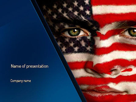 Deferred Action PowerPoint Template, 11111, America — PoweredTemplate.com