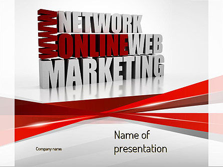 Web Marketing PowerPoint Template, 11113, Careers/Industry — PoweredTemplate.com