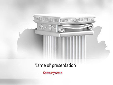 Construction: Pillar PowerPoint Template #11116