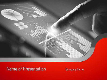 Technology and Science: Online Data PowerPoint Template #11119