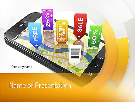Mobile Coupons PowerPoint Template, 11121, Careers/Industry — PoweredTemplate.com