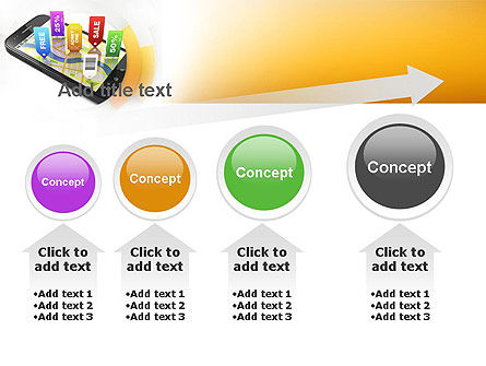 Mobile Coupons PowerPoint Template Slide 13
