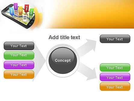 Mobile Coupons PowerPoint Template Slide 14