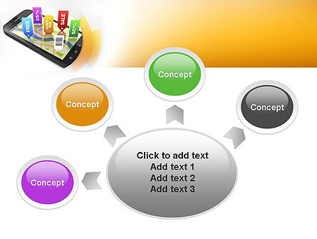 Mobile Coupons PowerPoint Template Slide 7