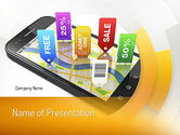 Careers/Industry: Mobile Coupons PowerPoint Template #11121