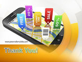 Mobile Coupons PowerPoint Template#20