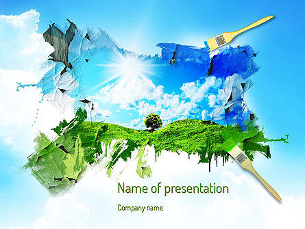 Art & Entertainment: Grass and Sky PowerPoint Template #11123