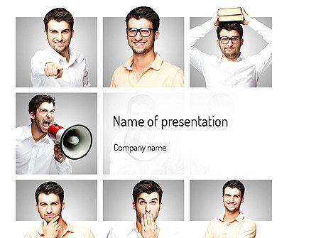 Variety Emotions PowerPoint Template, 11124, People — PoweredTemplate.com
