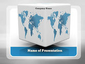 Global: Cube World Map PowerPoint Template #11126
