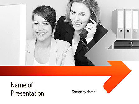 Clerks PowerPoint Template, 11127, People — PoweredTemplate.com