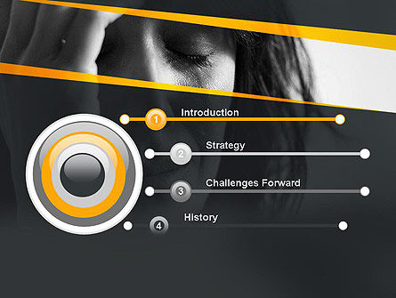 Distraught Woman PowerPoint Template, Slide 3, 11128, People — PoweredTemplate.com