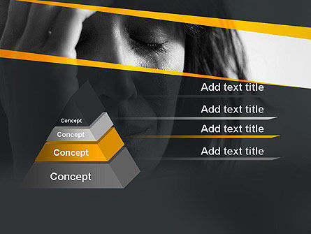 Distraught Woman PowerPoint Template, Slide 4, 11128, People — PoweredTemplate.com