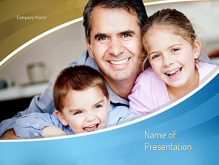 People: Daddy PowerPoint Template #11130