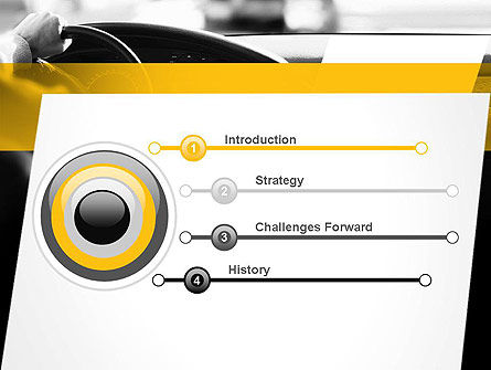 Driving a Car PowerPoint Template, Slide 3, 11131, Cars and Transportation — PoweredTemplate.com