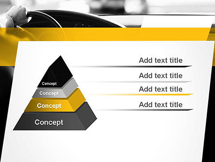 Driving a Car PowerPoint Template, Slide 4, 11131, Cars and Transportation — PoweredTemplate.com