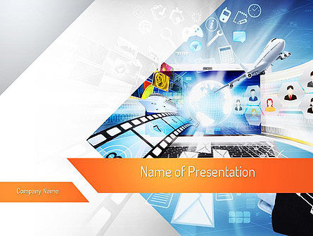 Media PowerPoint Template, 11133, Careers/Industry — PoweredTemplate.com
