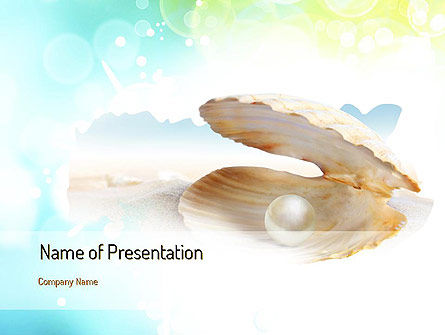 Pearl in the Shell PowerPoint Template