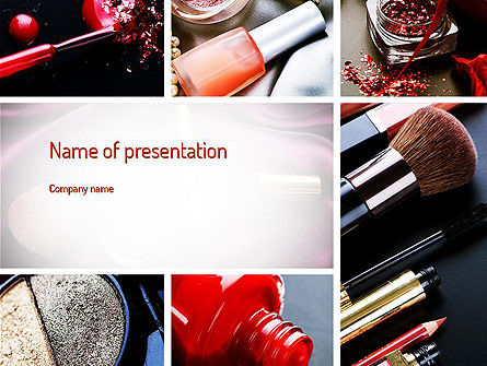 Careers/Industry: Makeup Tools PowerPoint Template #11138
