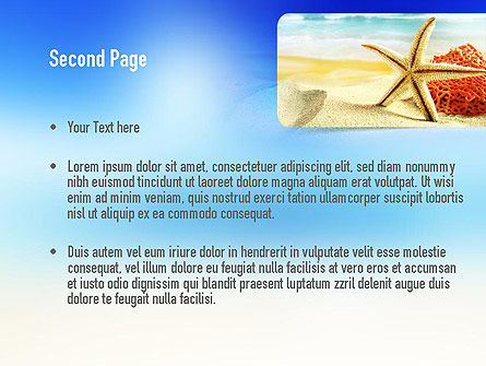 Summer Theme PowerPoint Template Slide 2