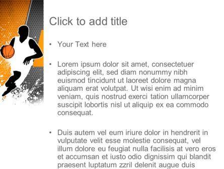 Basketball Man PowerPoint Template, Slide 3, 11140, Sports — PoweredTemplate.com