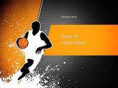 Sports: Basketball Man PowerPoint Template #11140