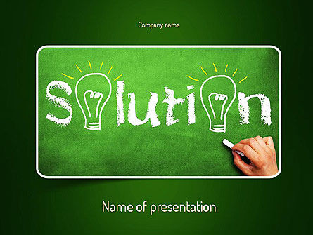 Questions and Solutions PowerPoint Template
