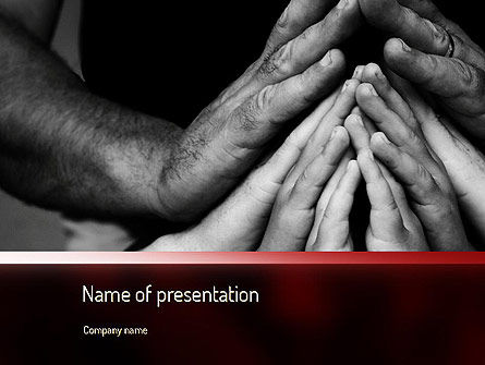 Family Praying PowerPoint Template, 11147, Religious/Spiritual — PoweredTemplate.com