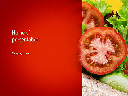 Food & Beverage: Healthy Sandwich PowerPoint Template #11149