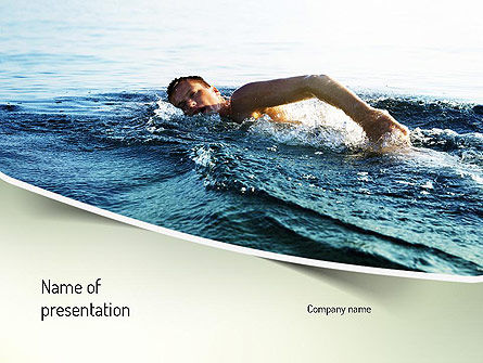 Sports: Ocean Swimmer PowerPoint Template #11150