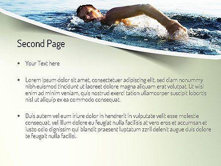 Ocean Swimmer PowerPoint Template Slide 2