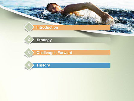 Ocean Swimmer PowerPoint Template Slide 3
