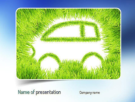Ecological Car PowerPoint Template, 11151, Technology and Science — PoweredTemplate.com