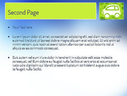 Ecological Car PowerPoint Template, Slide 2, 11151, Technology and Science — PoweredTemplate.com