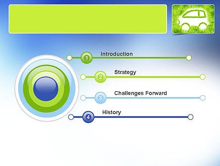 Ecological Car PowerPoint Template, Slide 3, 11151, Technology and Science — PoweredTemplate.com