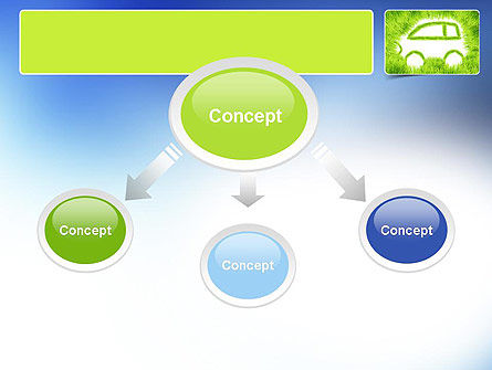 Ecological Car PowerPoint Template, Slide 4, 11151, Technology and Science — PoweredTemplate.com