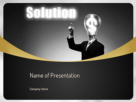Business Concepts: Profit Solution PowerPoint Template #11152