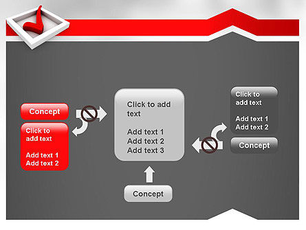 Red Check Mark PowerPoint Template Slide 13