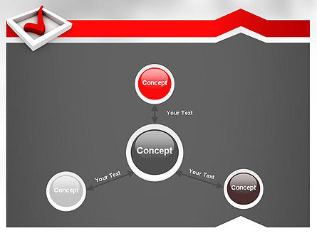 Red Check Mark PowerPoint Template Slide 14