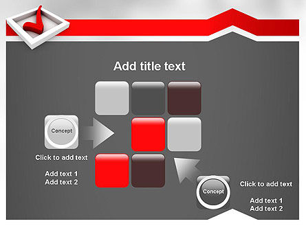 Red Check Mark PowerPoint Template Slide 16