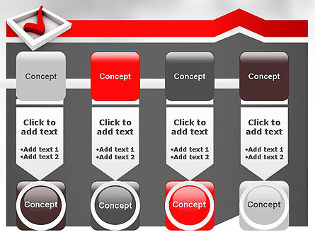 Red Check Mark PowerPoint Template Slide 18