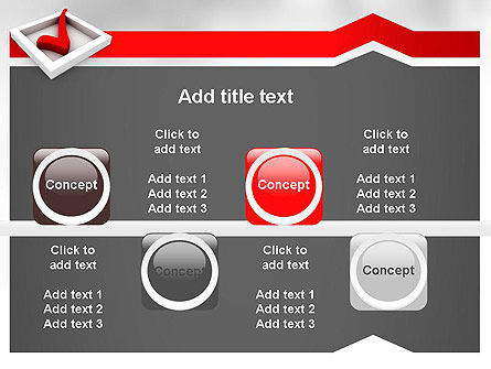 Red Check Mark PowerPoint Template Slide 19