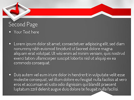 Red Check Mark PowerPoint Template Slide 2