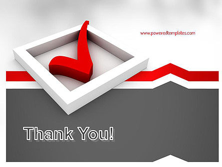 Red Check Mark PowerPoint Template Slide 20