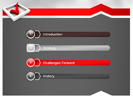 Red Check Mark PowerPoint Template Slide 3