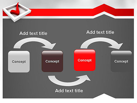 Red Check Mark PowerPoint Template Slide 4
