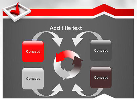 Red Check Mark PowerPoint Template Slide 6