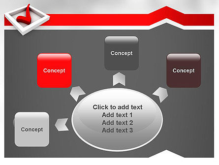 Red Check Mark PowerPoint Template Slide 7