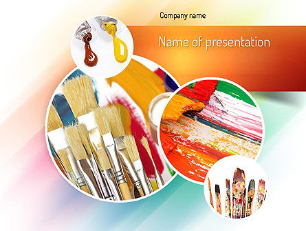 Paintbrushes PowerPoint Template