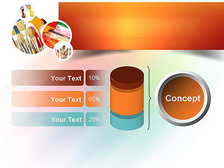 Paintbrushes PowerPoint Template Slide 11