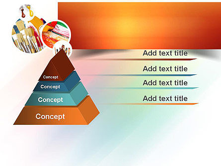 Paintbrushes PowerPoint Template Slide 12